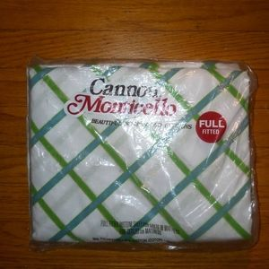 Vintage Cannon Monticello full fitted sheet NIP